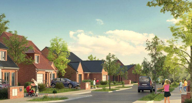 Photo n°2 du Résidence « Le Domaine Des Moulins » programme immobilier neuf à Brebières