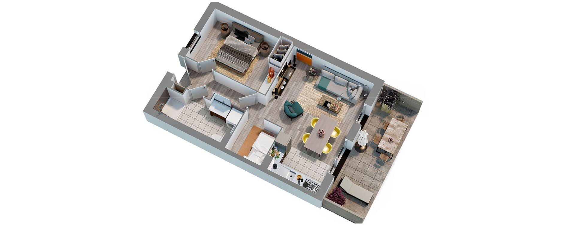 Appartement T2 de 42,70 m2 à Cucq Stella plage