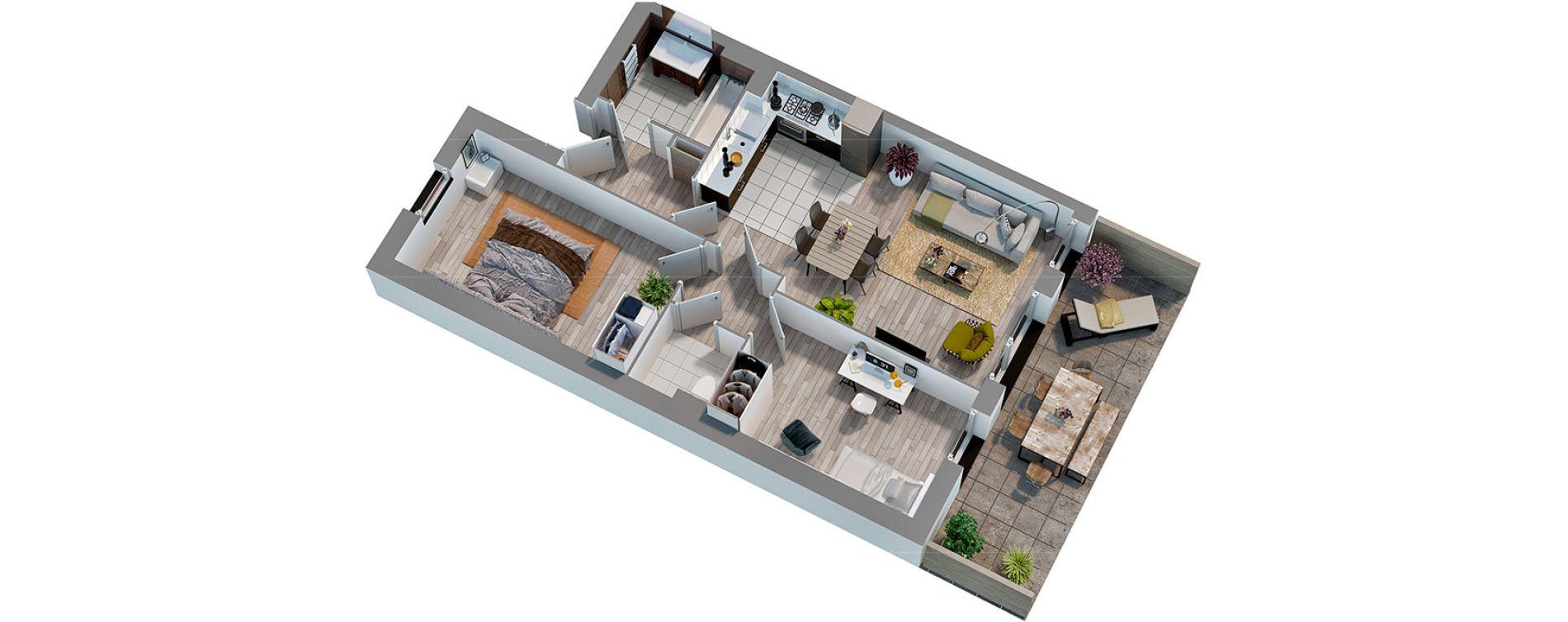 Appartement T3 de 54,10 m2 à Cucq Stella plage