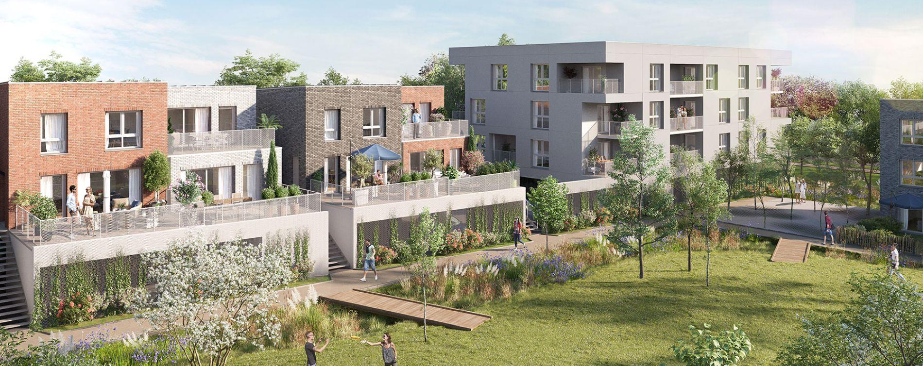 Amiens : programme immobilier neuve « Couleur Nature » en Loi Pinel