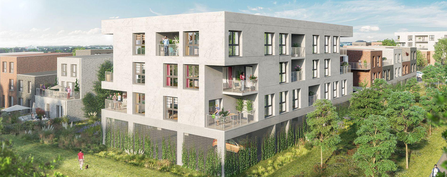 Amiens : programme immobilier neuve « Couleur Nature » en Loi Pinel (3)