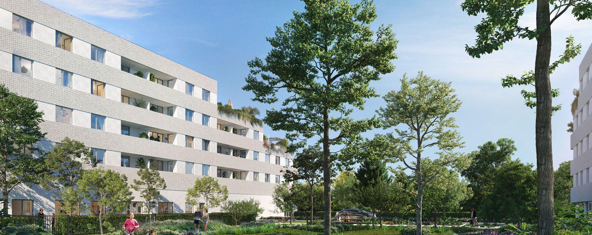 Amiens : programme immobilier neuve « Les Jardins d'Arc » en Loi Pinel