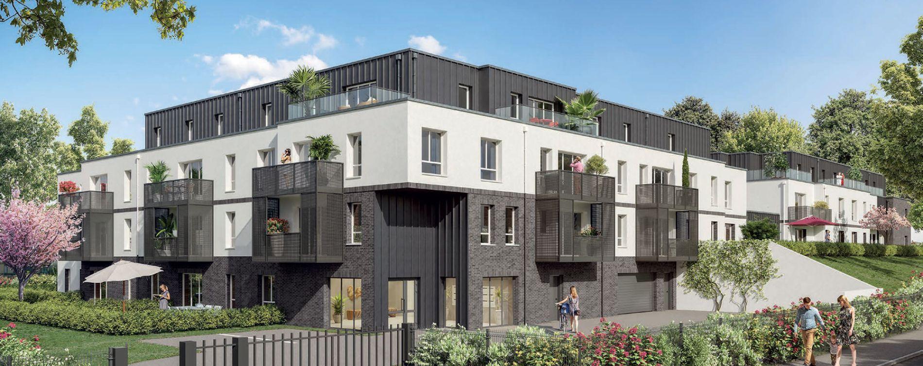 Amiens : programme immobilier neuve « Les Rives du Bois » en Loi Pinel