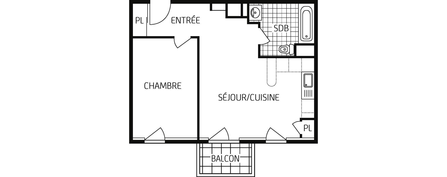 Plan T2 neuf à Amiens de