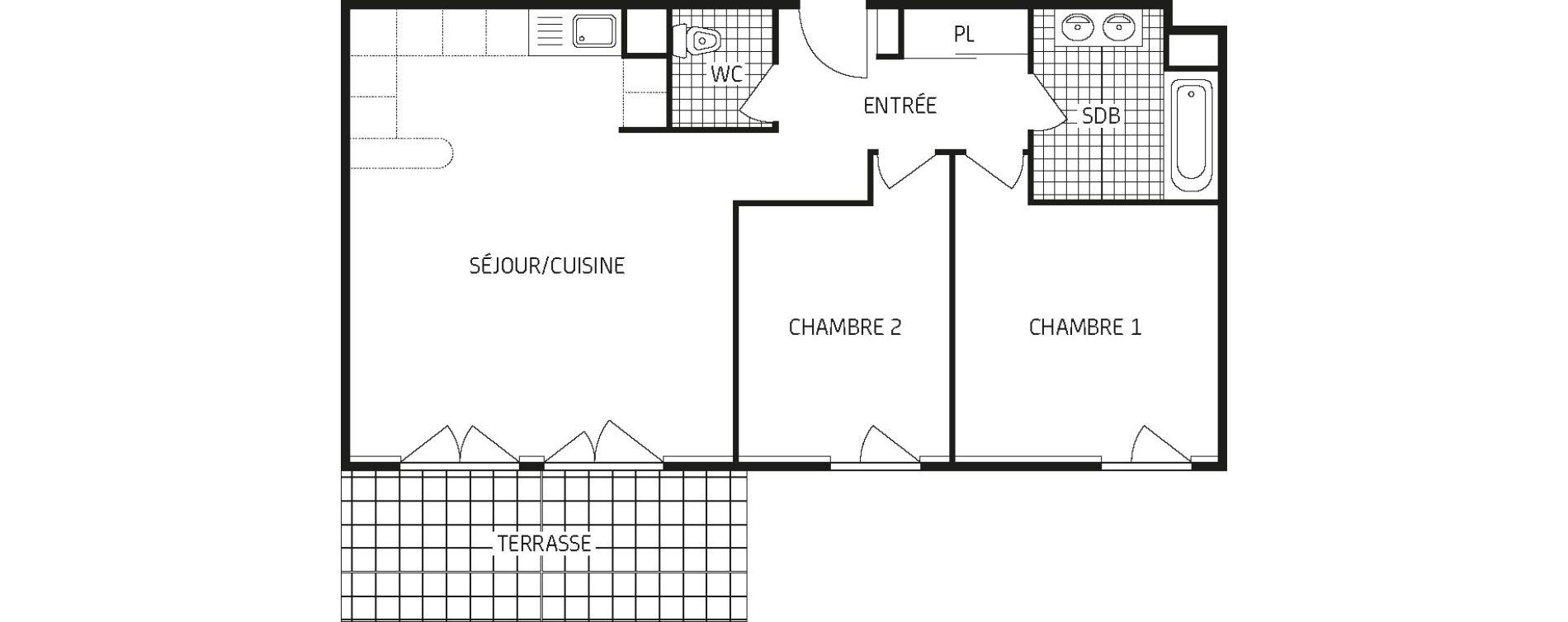 Appartement T3 de 64,84 m2 à Amiens Intercampus