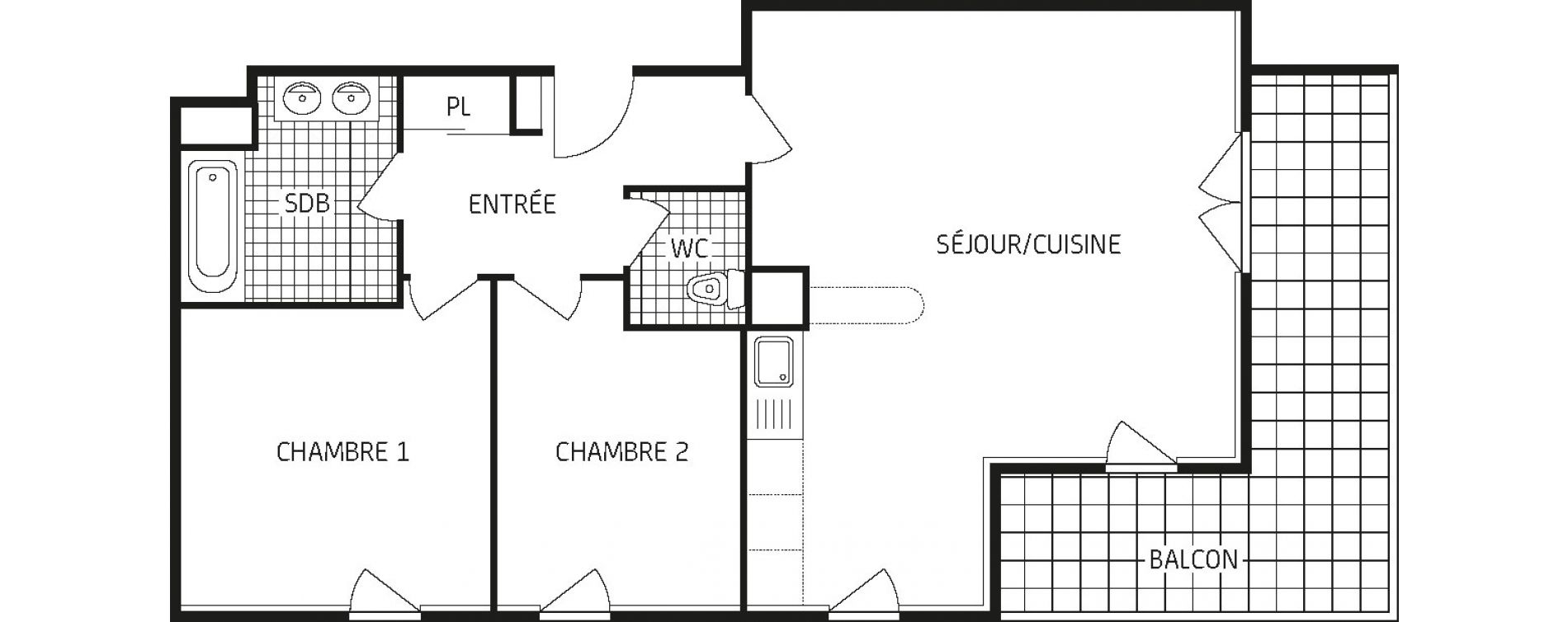 Appartement T3 de 65,63 m2 à Amiens Intercampus