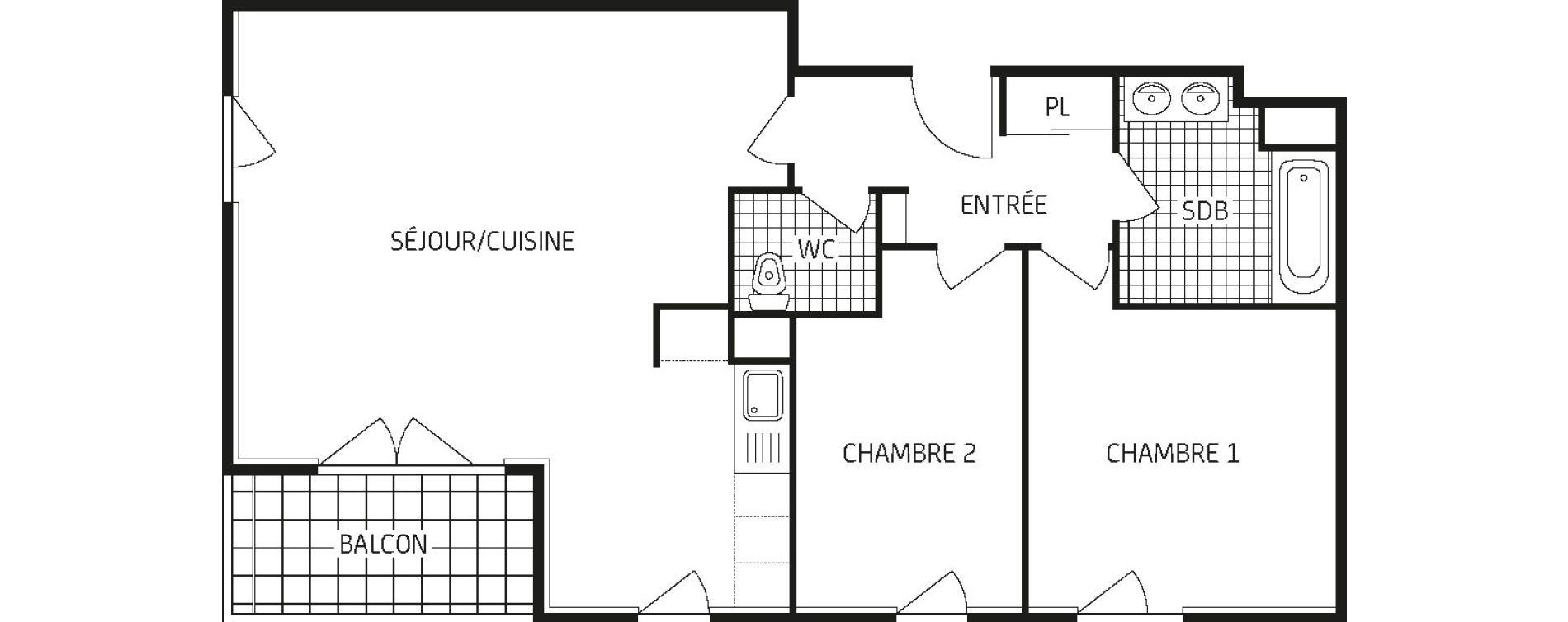 Appartement T3 de 67,53 m2 à Amiens Intercampus