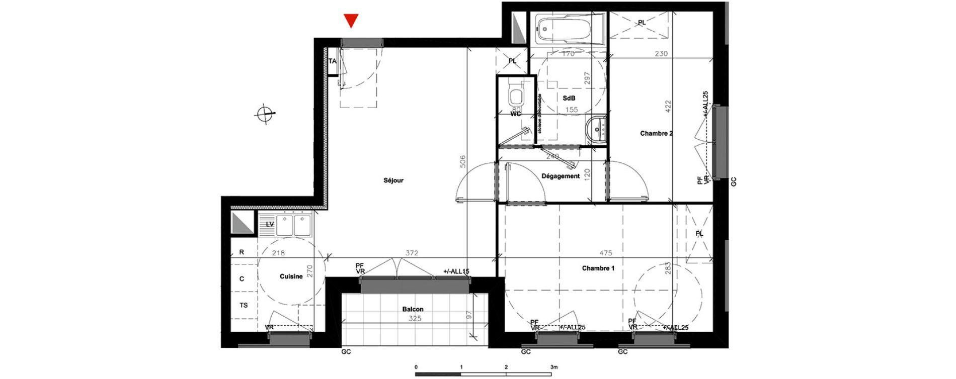 Appartement T3 de 56,35 m2 à Bondoufle Centre