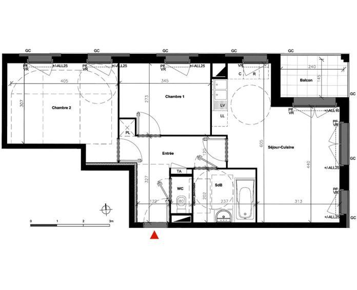 Appartement t3 bondoufle n 252 nord est for Achat pavillon neuf