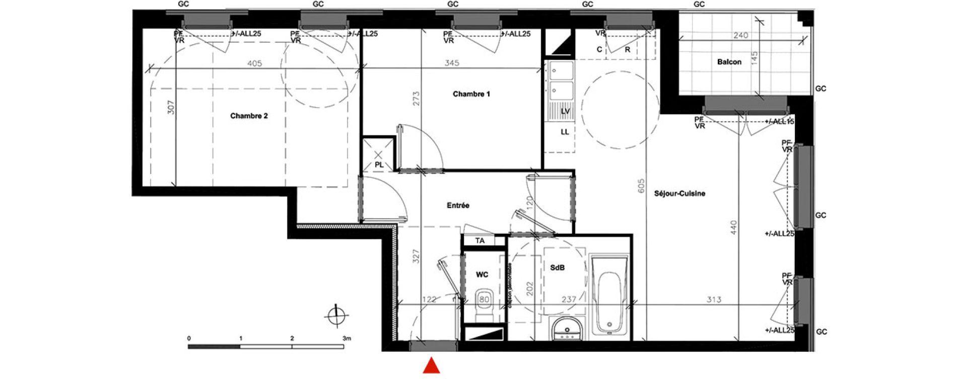 Appartement T3 de 56,15 m2 à Bondoufle Centre