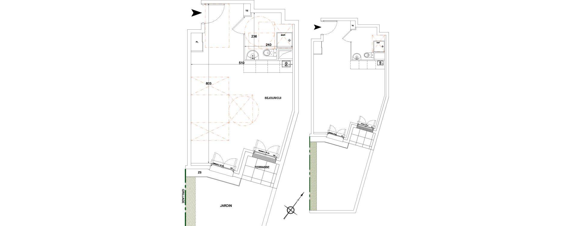 Appartement T1 de 36,02 m2 à Corbeil-Essonnes Montconseil