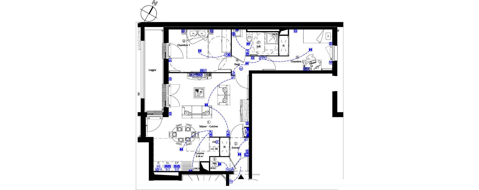 Appartement T3 de 65,90 m2 à Corbeil-Essonnes Centre