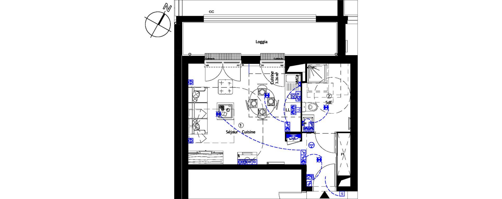 Appartement T1 de 28,60 m2 à Corbeil-Essonnes Centre