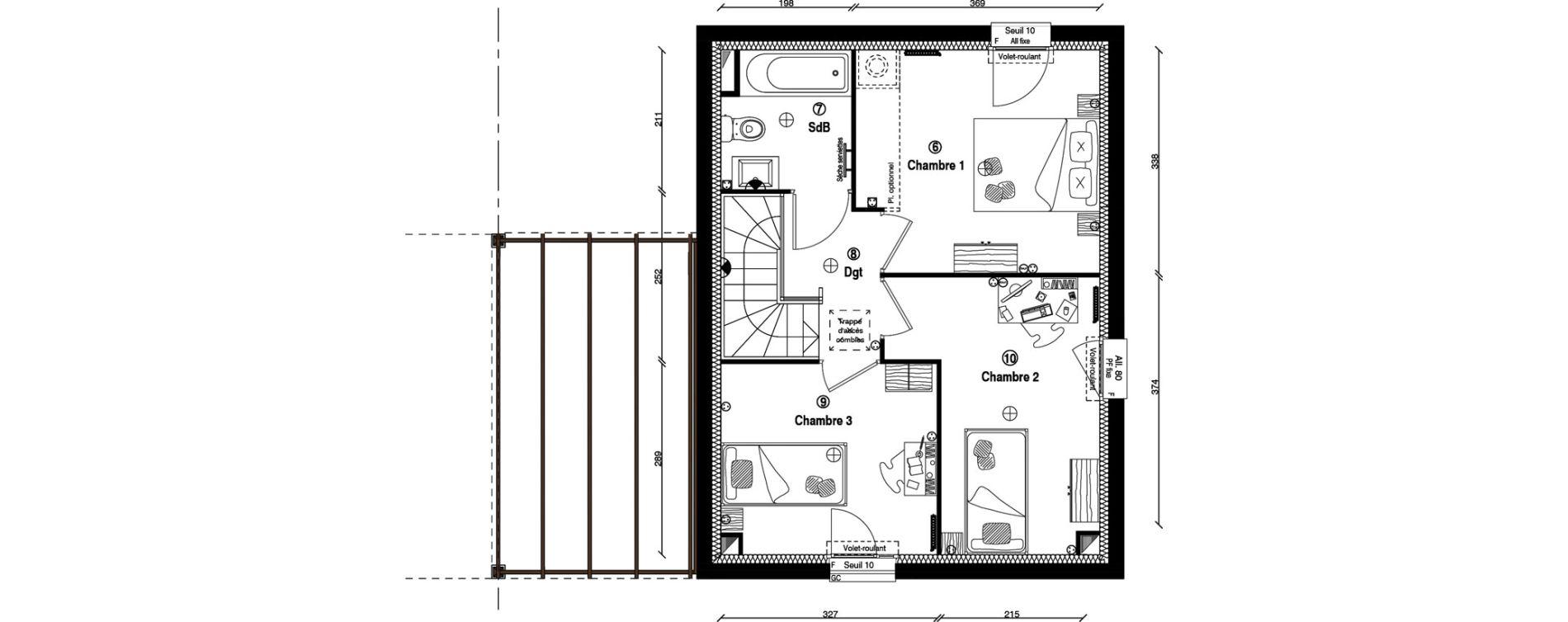 Maison T4 de 80,10 m2 à Écharcon Centre