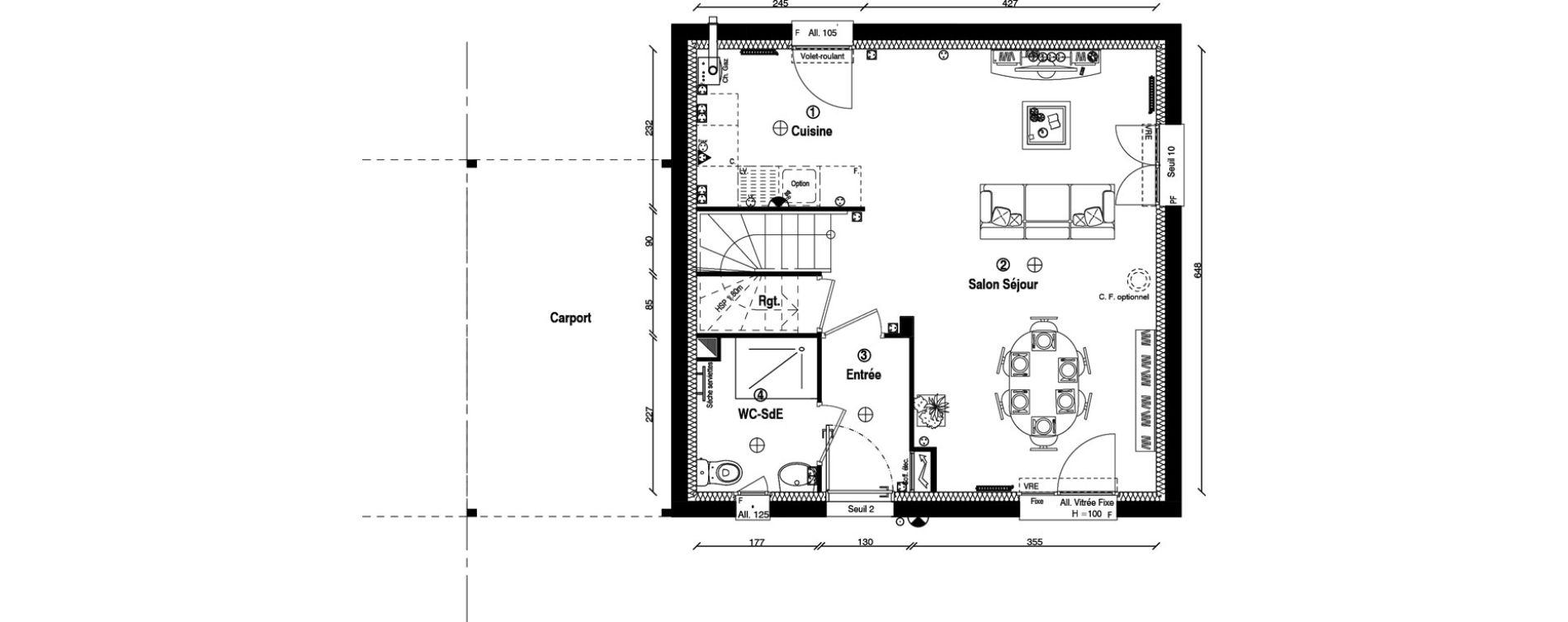 Maison T4 de 79,90 m2 à Écharcon Centre