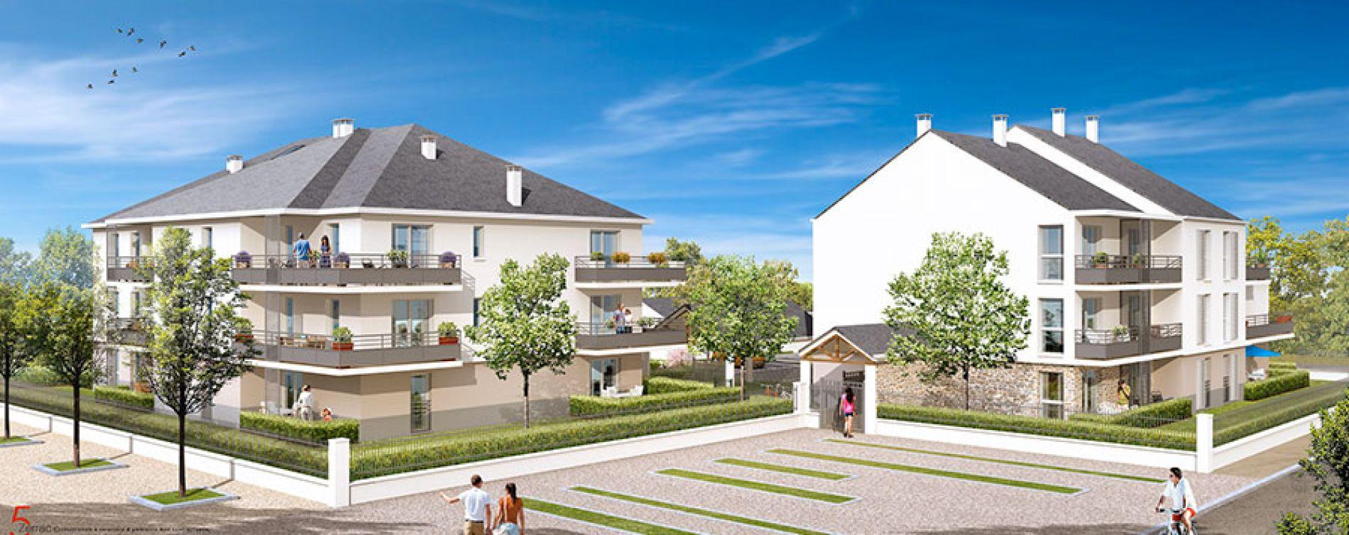 Entre ville et nature 2 gly programme immobilier neuf n for Piscine entre 2 immeubles
