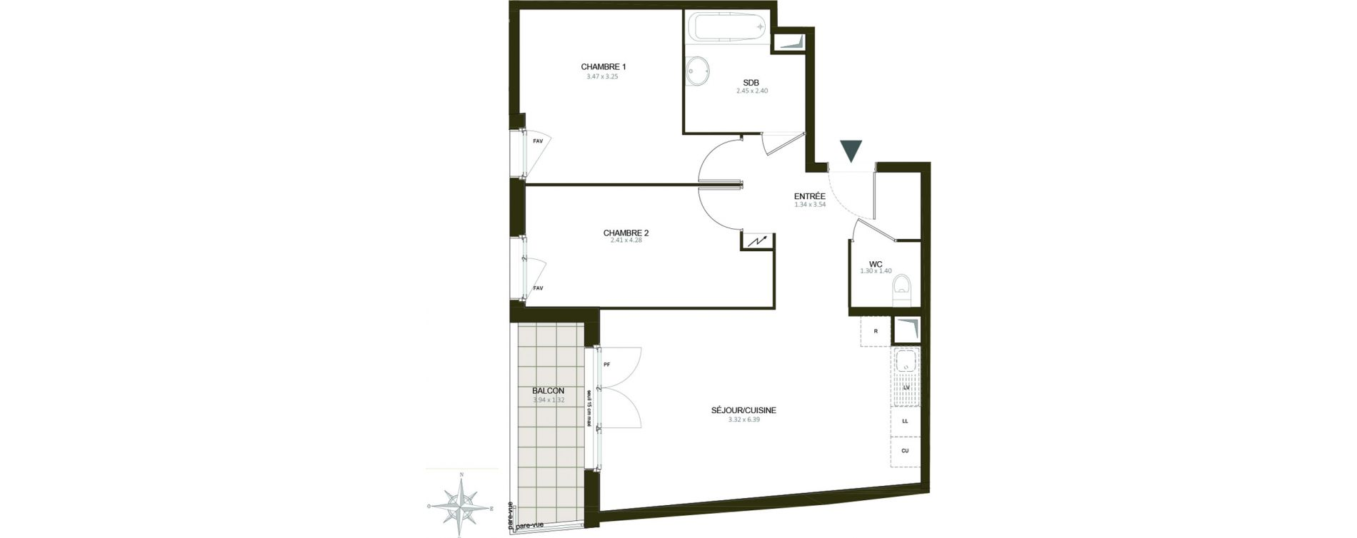 Appartement T3 de 61,04 m2 à Épinay-Sur-Orge Centre