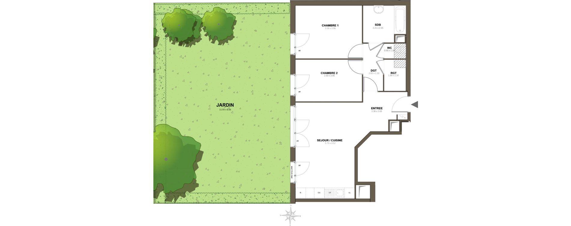 Appartement T3 de 61,14 m2 à Épinay-Sur-Orge Centre