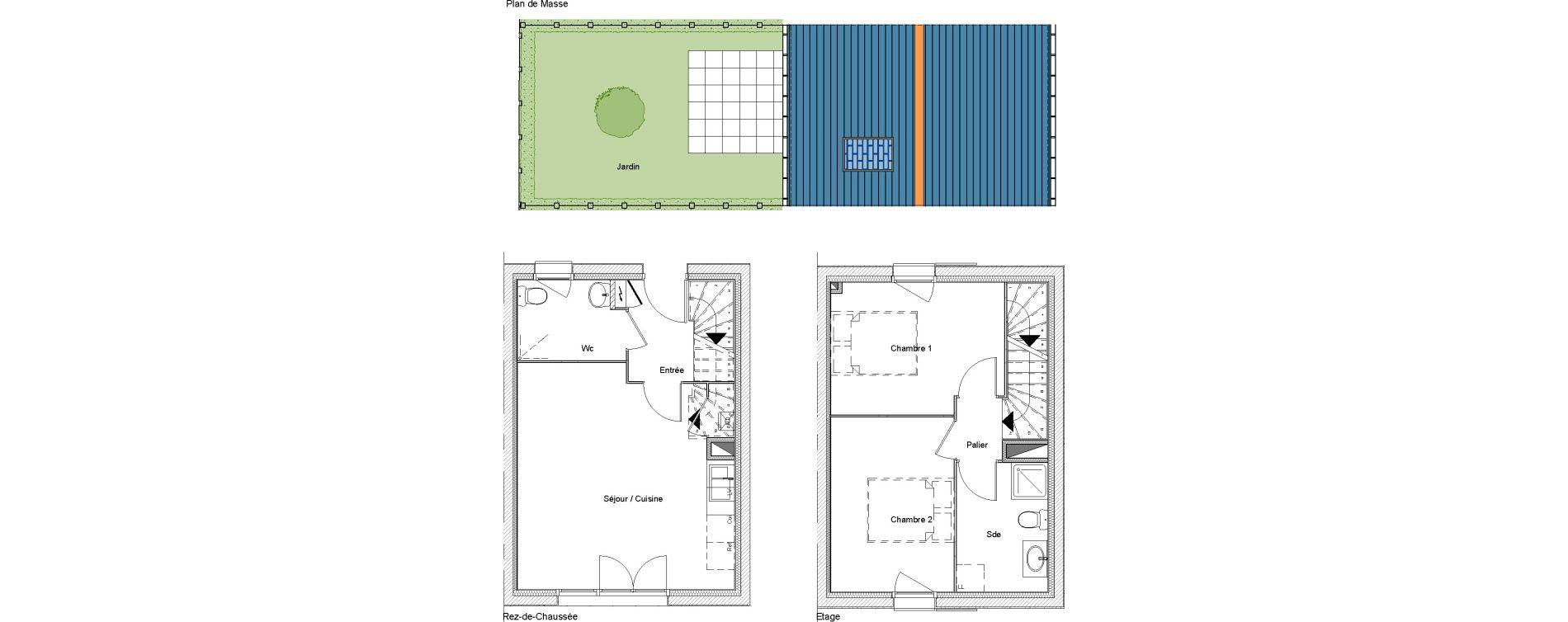 Villa T3 de 56,97 m2 à Étampes Centre