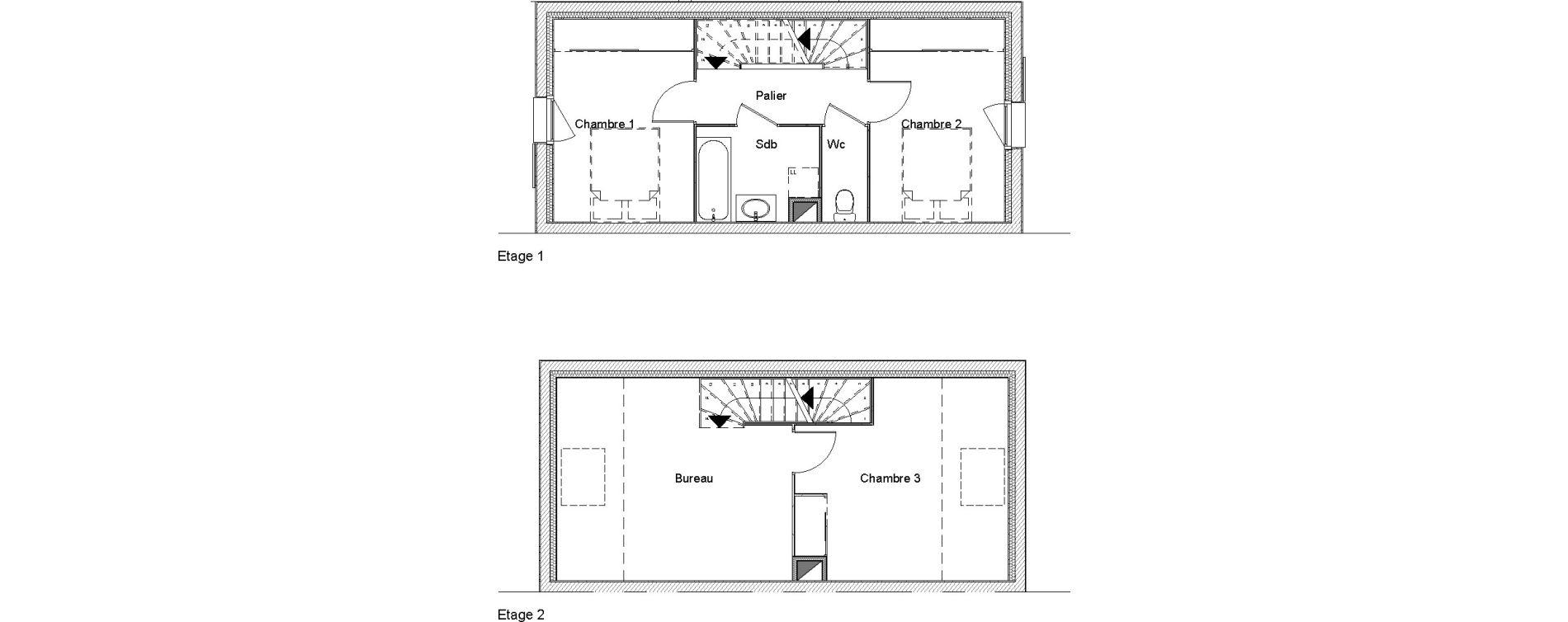 Villa T4 de 88,74 m2 à Étampes Centre