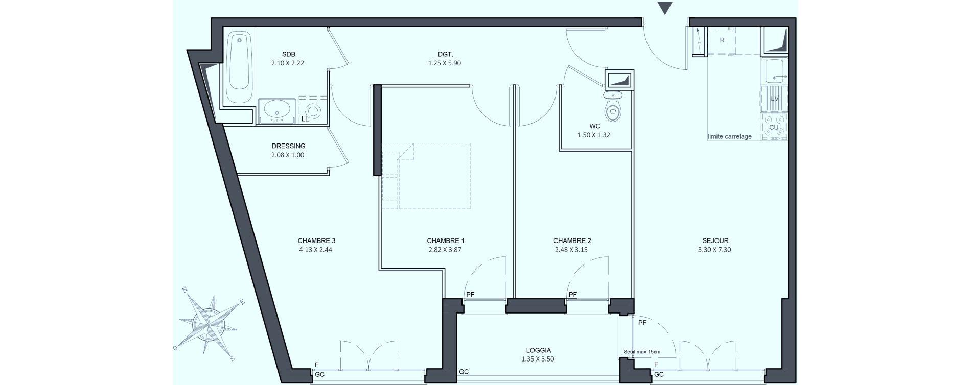 Appartement T4 de 75,95 m2 à Juvisy-Sur-Orge Centre
