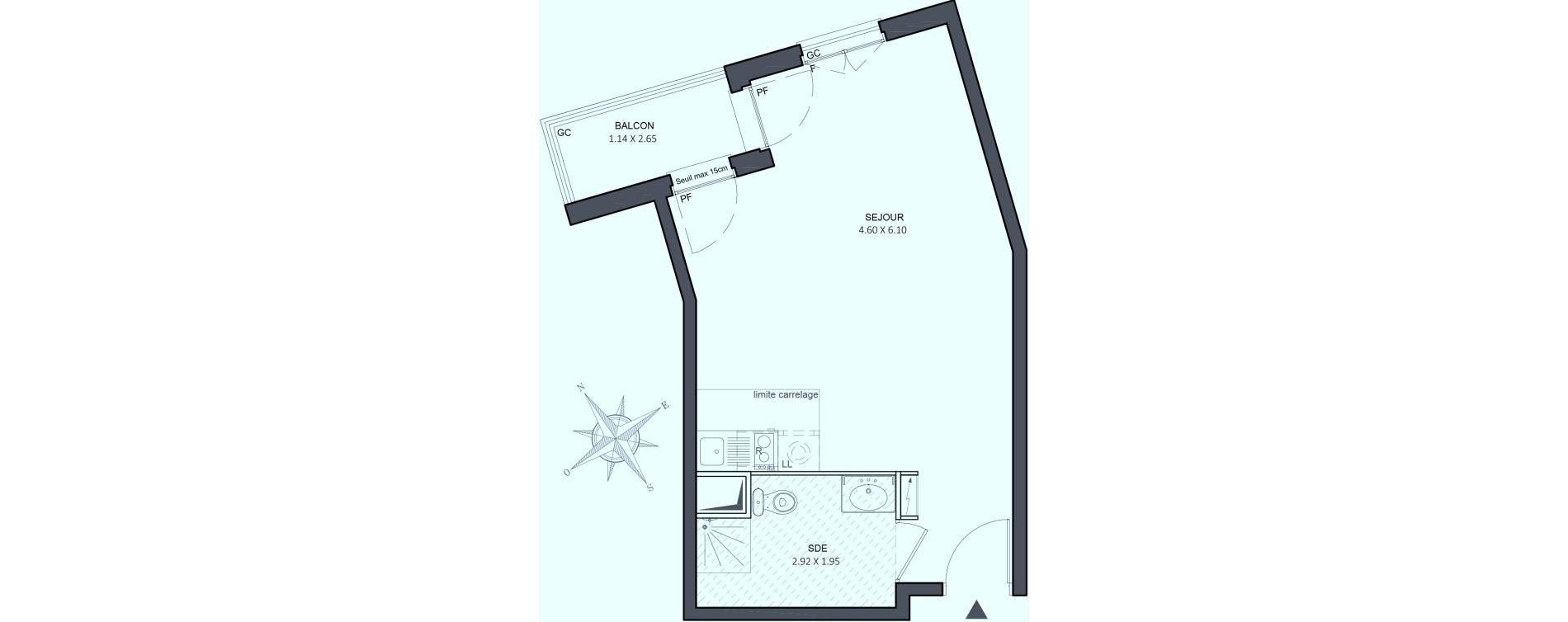 Appartement T1 de 33,40 m2 à Juvisy-Sur-Orge Centre