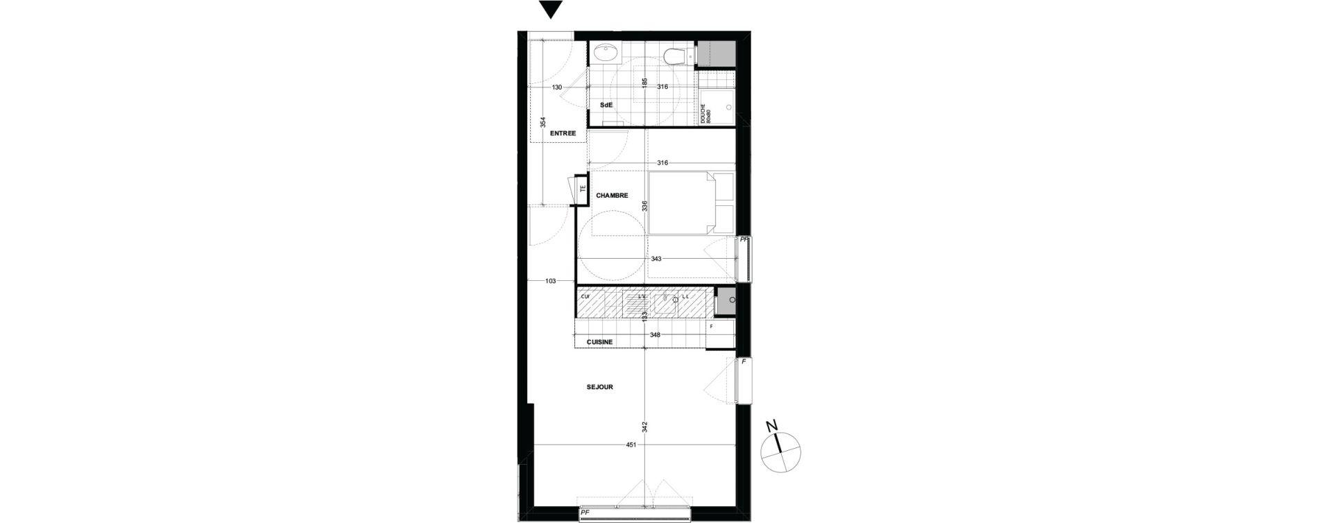 Appartement T2 de 43,30 m2 à Longjumeau Centre