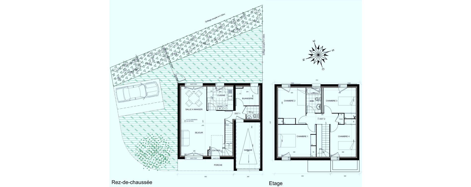 Maison T6 de 101,89 m2 à Mauchamps Centre