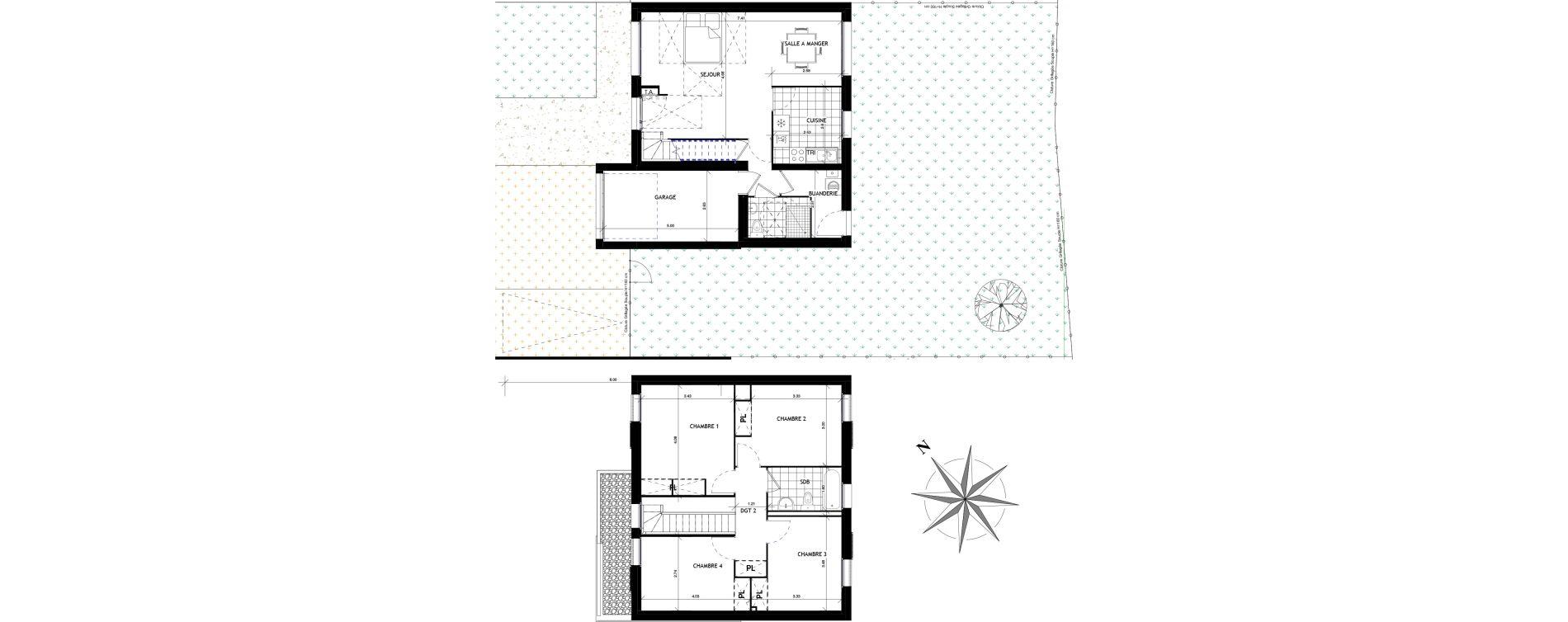Maison T6 de 105,80 m2 à Mauchamps Centre