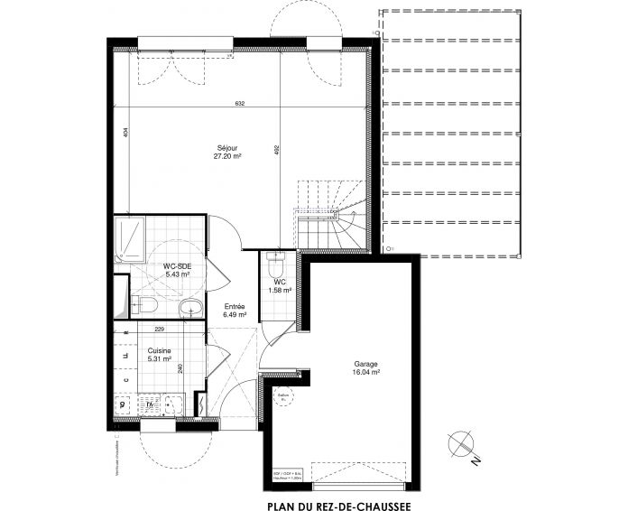 Maison t5 ormoy n 885 sud ouest programme neuf for Plan maison sud ouest