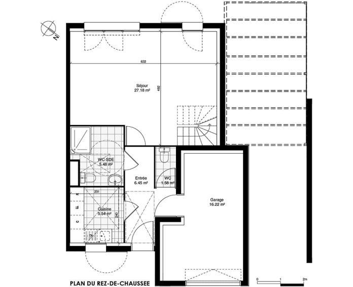 Maison t5 ormoy n 900 sud ouest programme neuf for Plan maison sud ouest