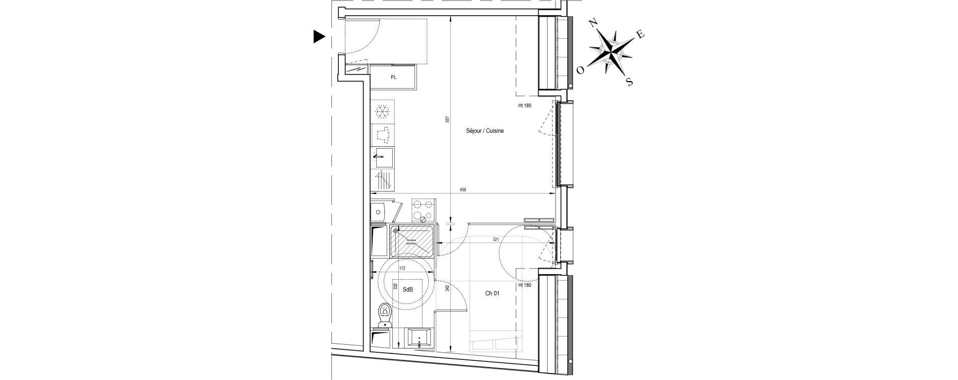 Appartement T2 de 39,94 m2 à Ormoy Centre