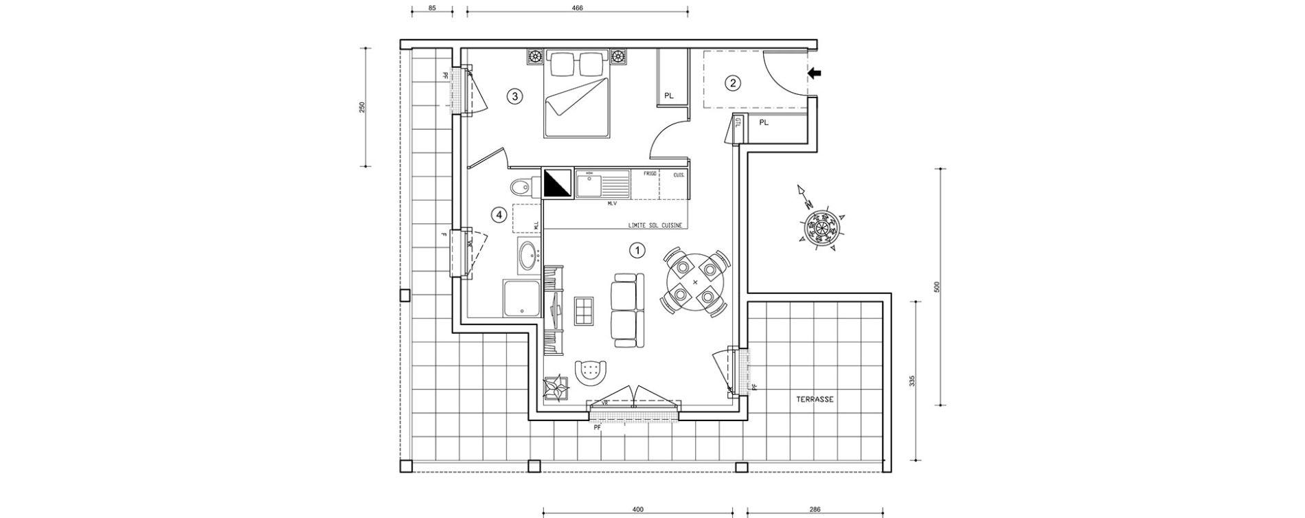 plan appartement 41 m2
