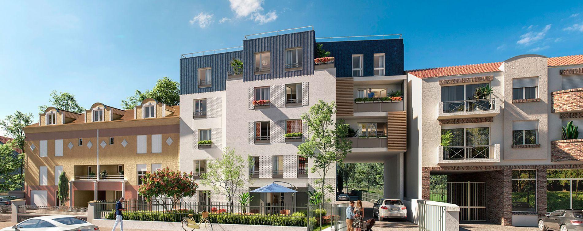 Sainte-Geneviève-des-Bois : programme immobilier neuve « A'tmosphère » en Loi Pinel (2)