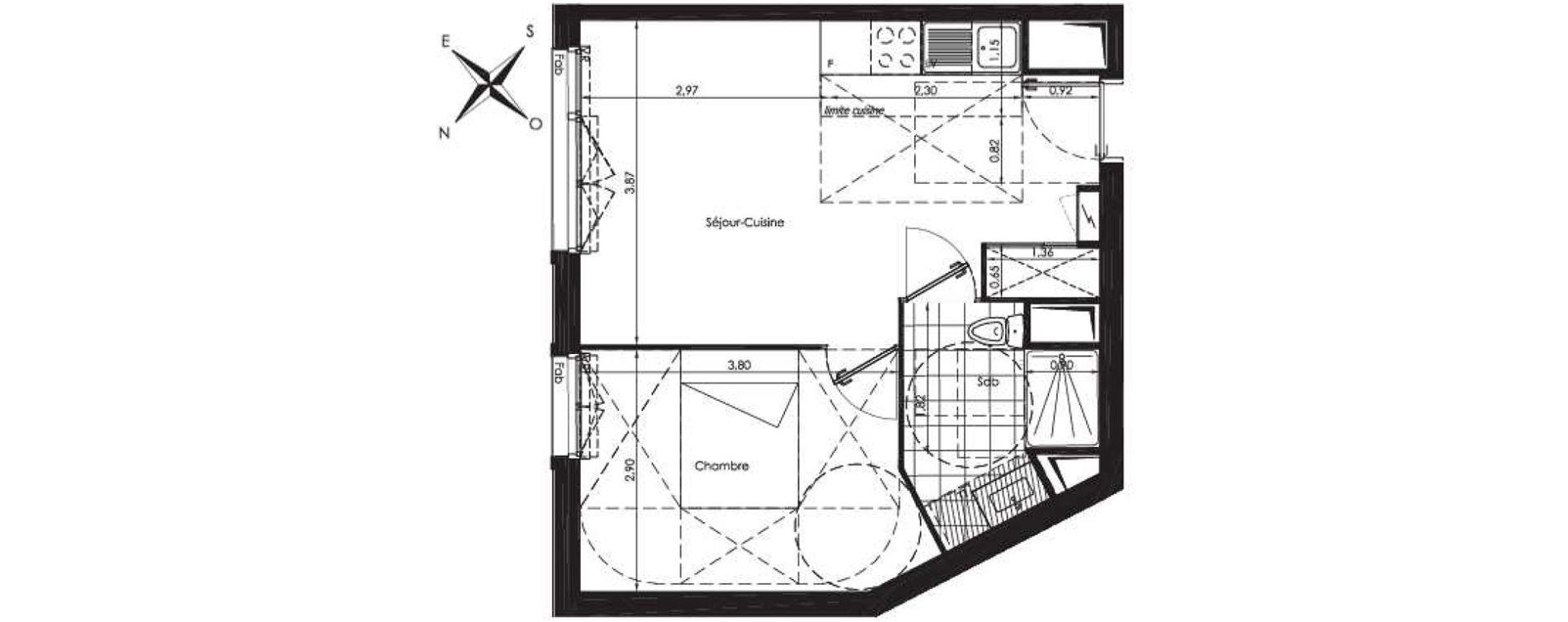 Plan T2 neuf à Savigny-sur-Orge de