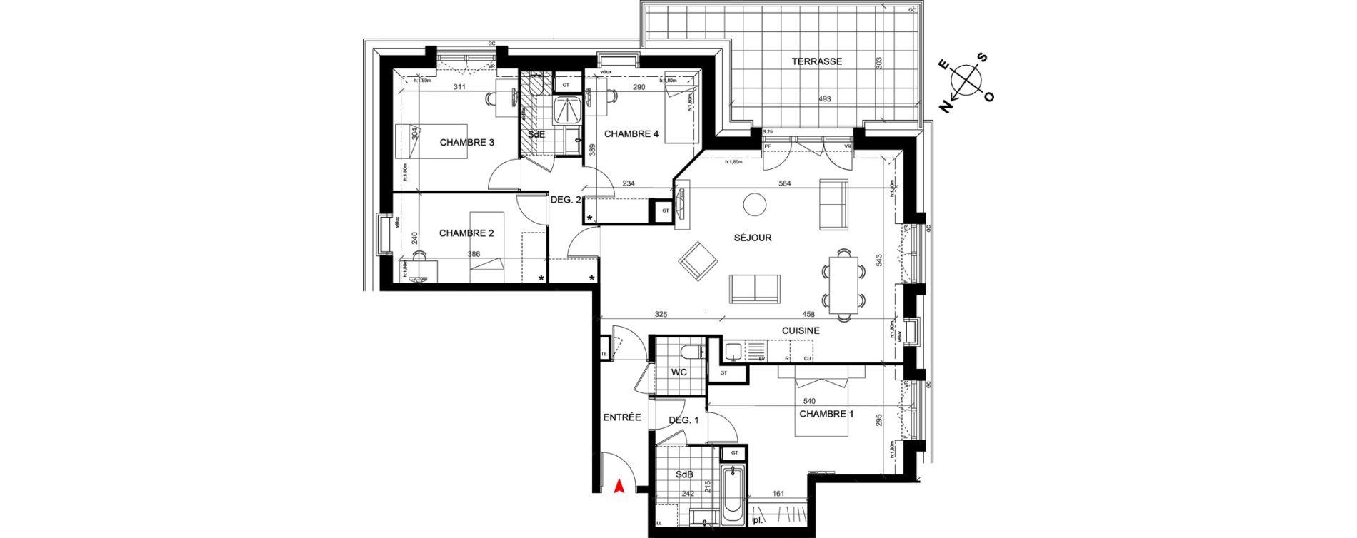 Appartement T5 de 104,70 m2 à Savigny-Sur-Orge Centre