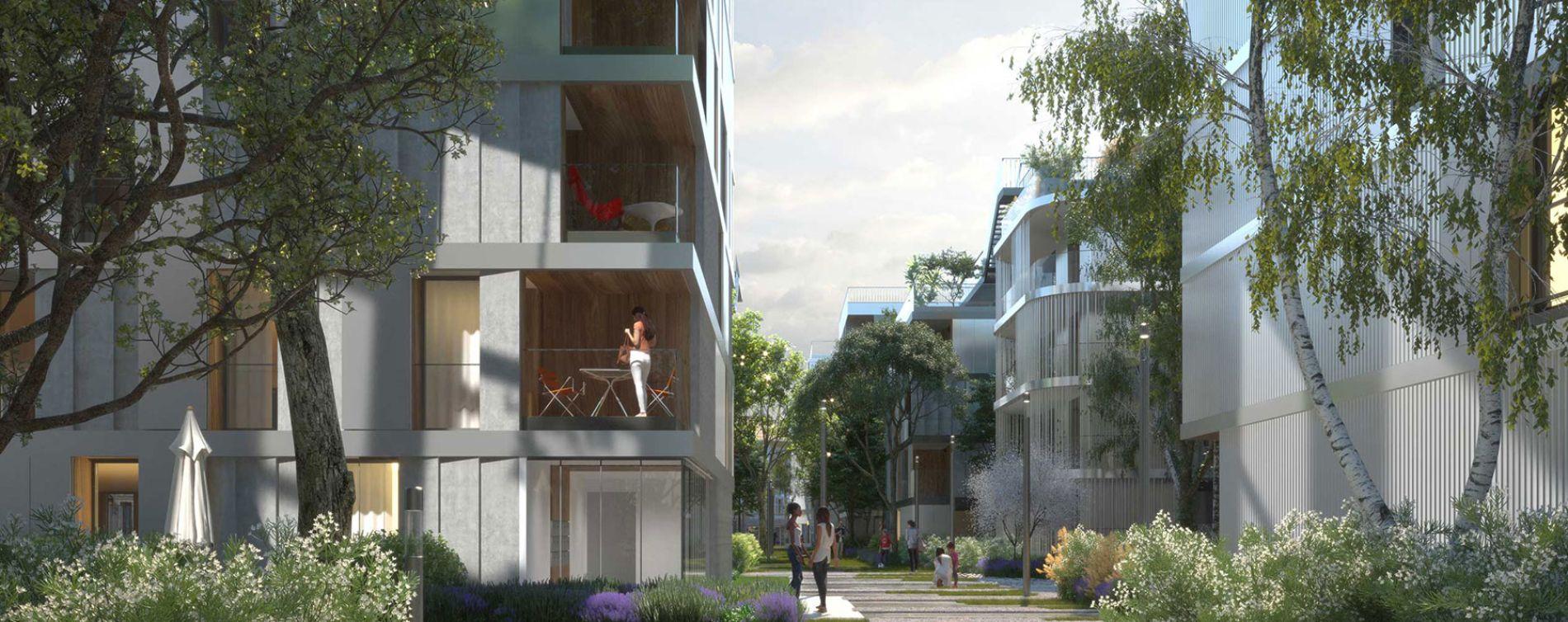Asnières-sur-Seine : programme immobilier neuve « Artchipel » (2)