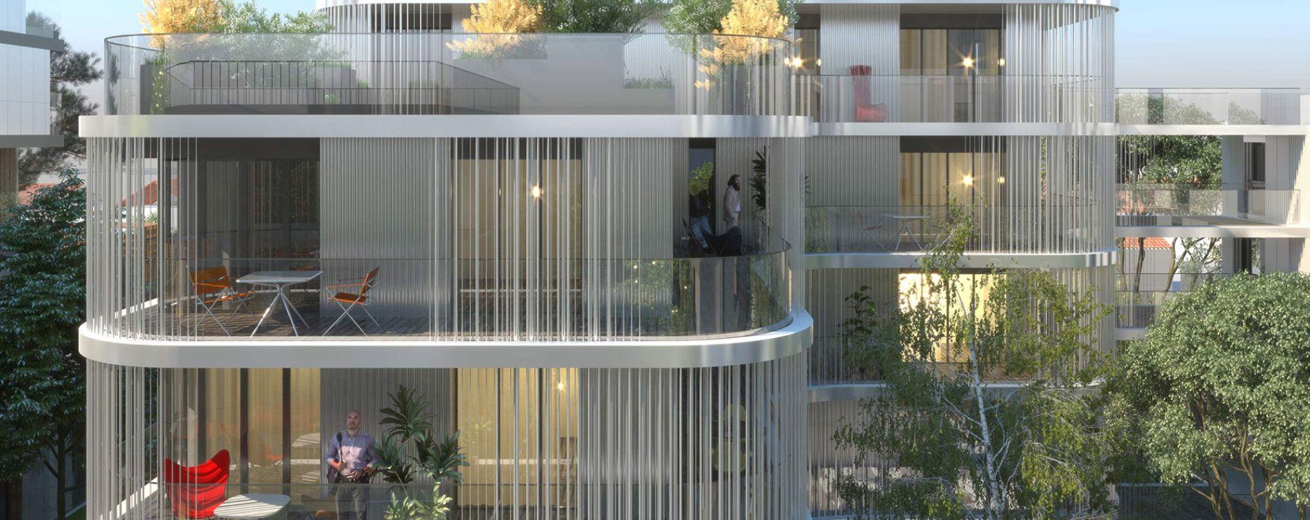 Asnières-sur-Seine : programme immobilier neuve « Artchipel » (3)