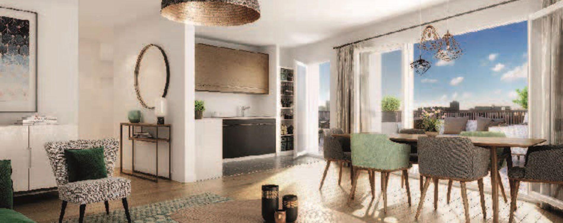 Asnières-sur-Seine : programme immobilier neuve « Olympéa » en Loi Pinel (2)