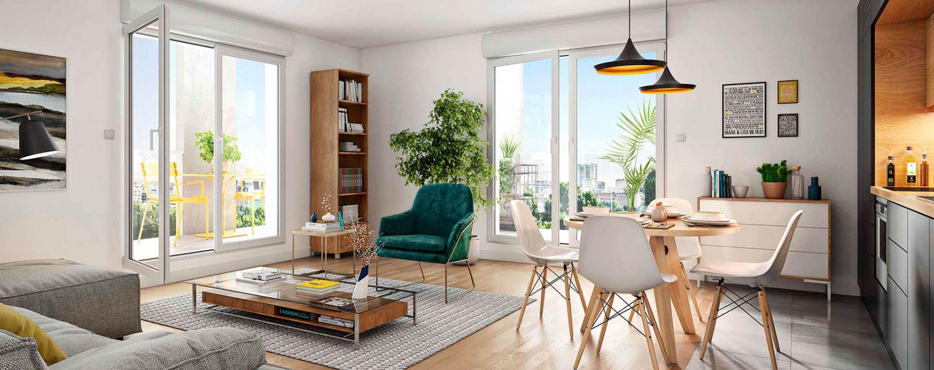 Asnières-sur-Seine : programme immobilier neuve « Promenade Manet » (4)