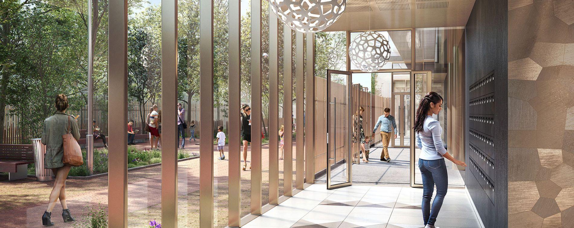 Asnières-sur-Seine : programme immobilier neuve « Promenade Manet » (5)