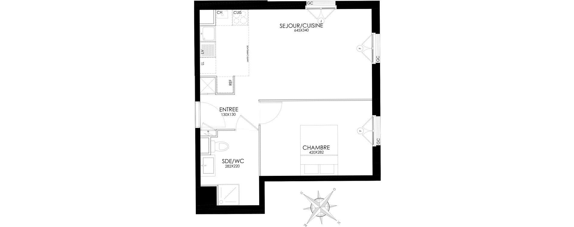 Appartement T2 de 40,90 m2 à Asnières-Sur-Seine L'alma