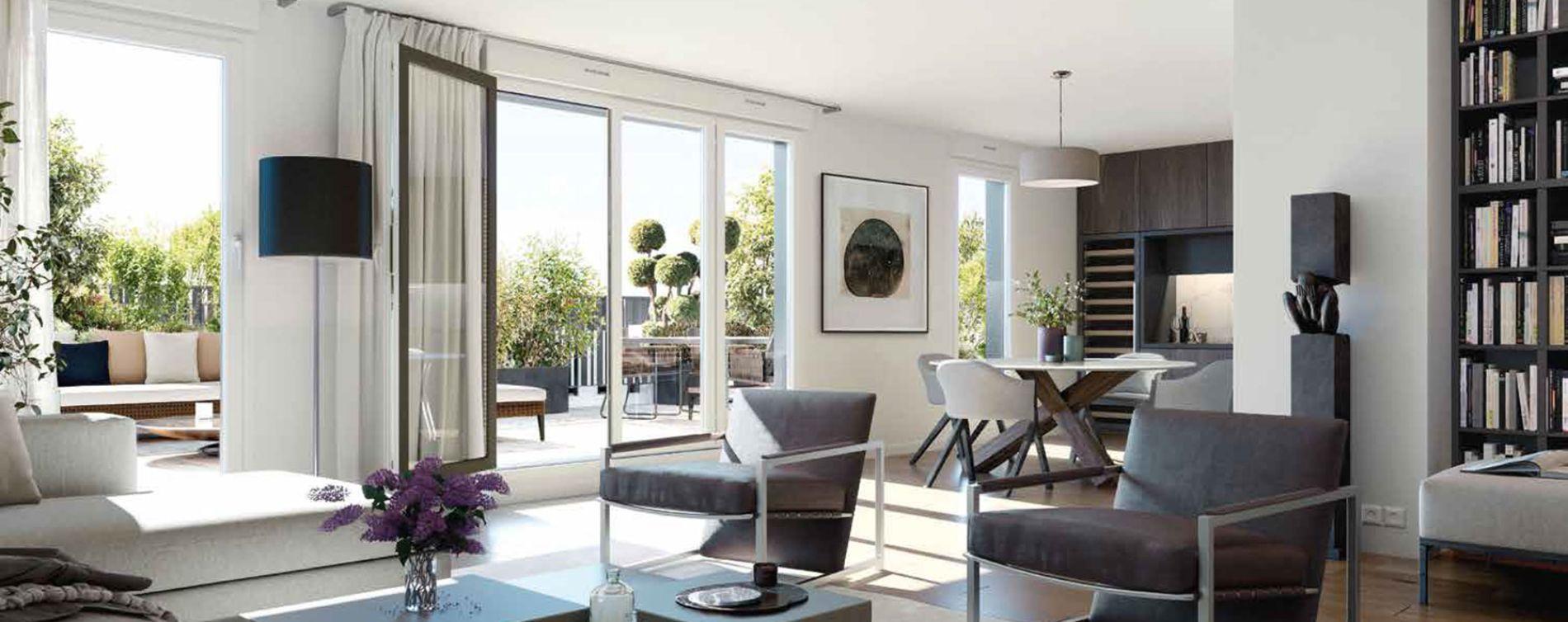 Boulogne-Billancourt : programme immobilier neuve « 128' Aguesseau » (5)