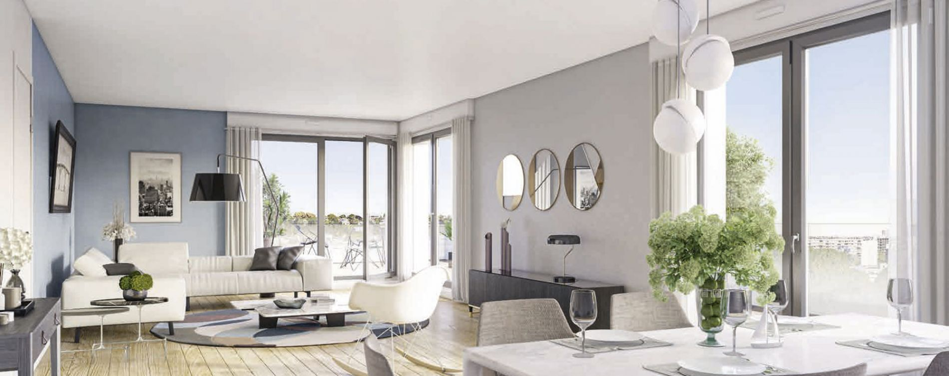Boulogne-Billancourt : programme immobilier neuve « L'Exception » en Loi Pinel (4)