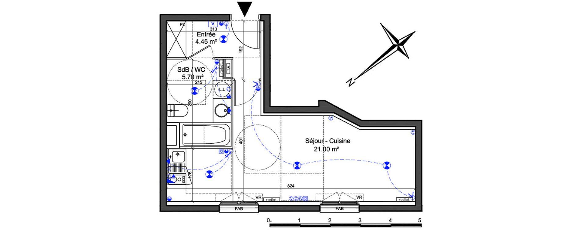 Appartement T1 de 31,15 m2 à Châtillon Centre