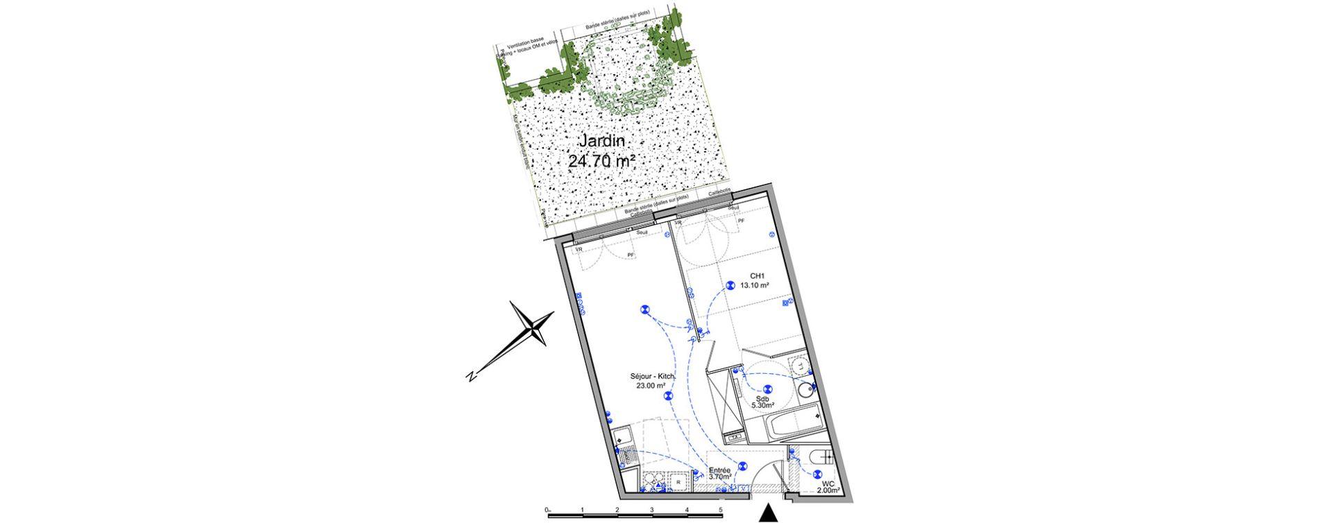 Appartement T2 de 45,10 m2 à Châtillon Centre