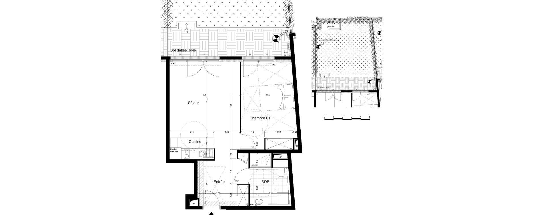 Appartement T2 de 48,70 m2 à Chaville Centre