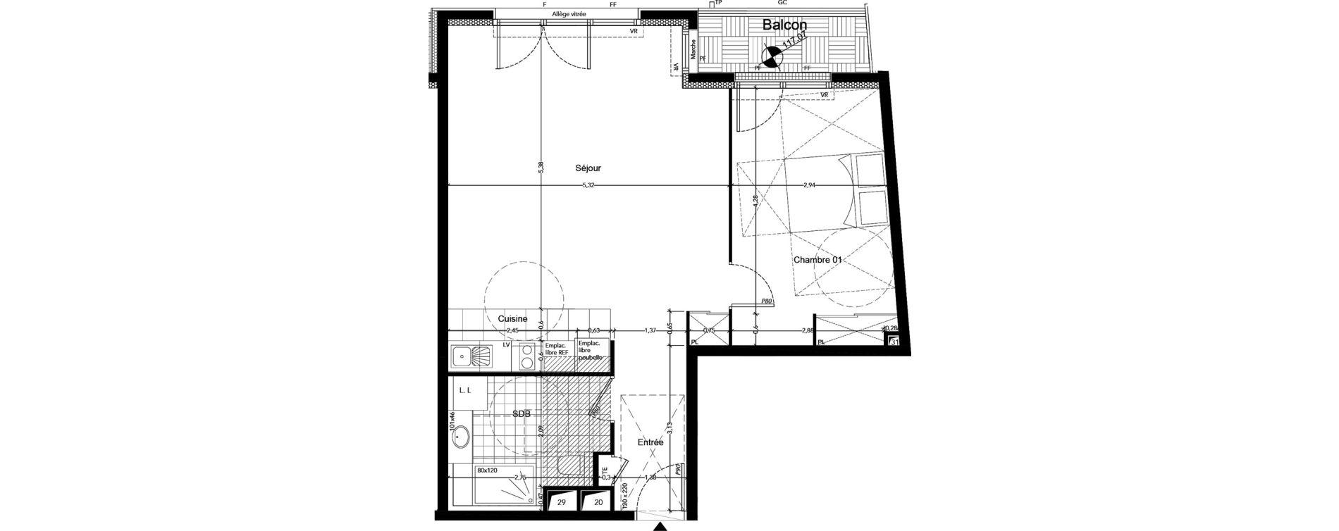 Appartement T2 de 58,70 m2 à Chaville Centre