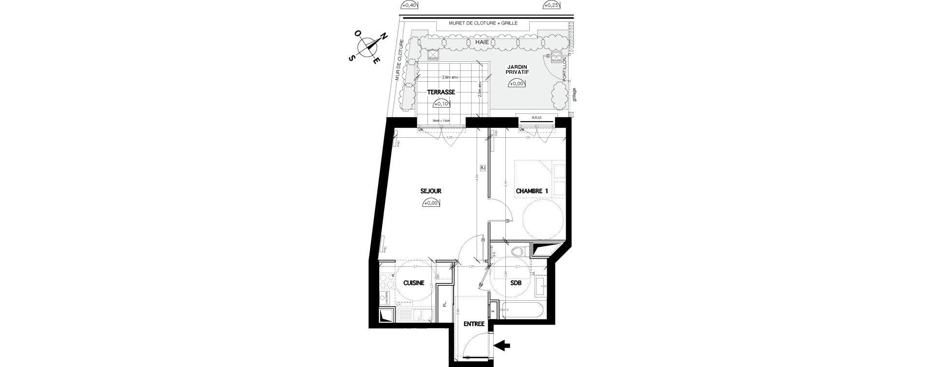 Appartement T2 de 45,50 m2 à Clamart Bois de clamart