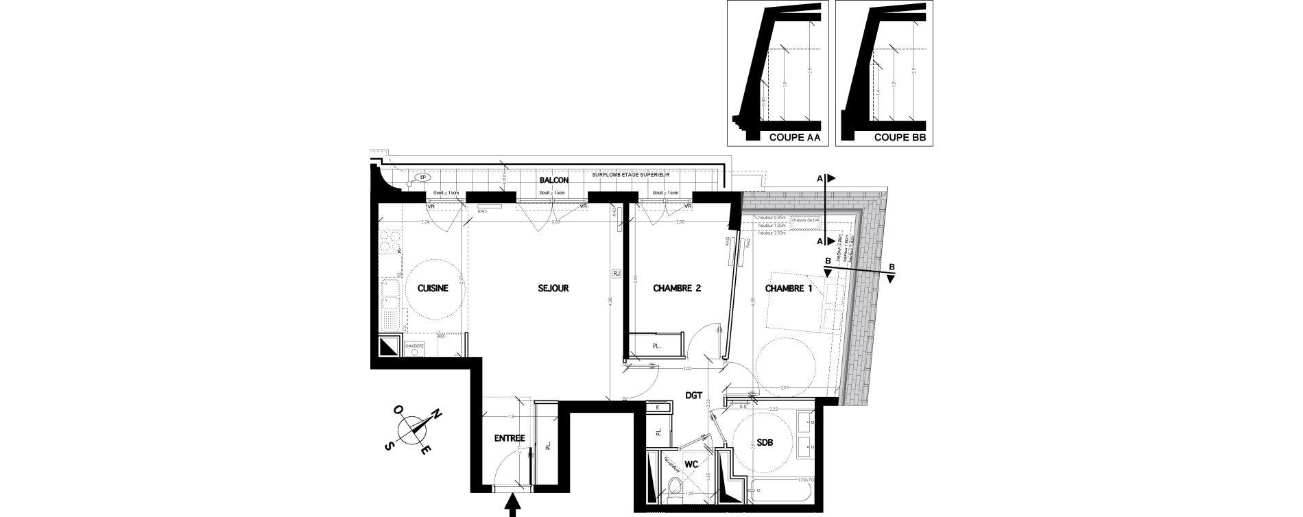 Appartement T3 de 64,30 m2 à Clamart Bois de clamart